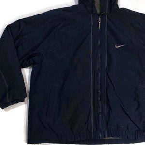 Vintage Nike Bomber Jacket Navy Big Check